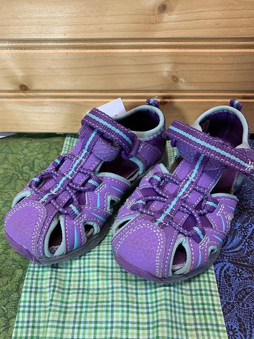 Size 6 Toddler MERRELL Purple Trek Sandals