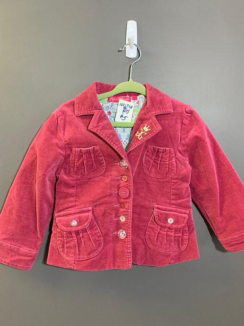 Size 2T GAGOU GLAMOUR Velvety Mauve Mixed Button Jacket
