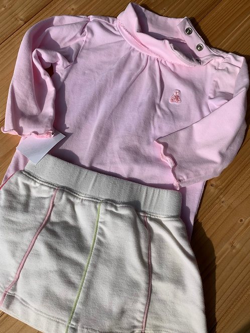 Size 3-6m BABY GAP Pink Turtleneck and Tennis Skirt, Used