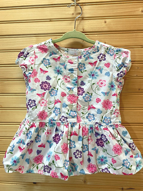 Size 2T Flower Shirt, Used