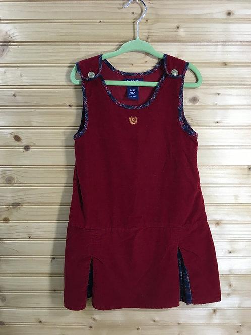 Size 4T Girls CHAPS Red Sleeveless Corduroy Dress