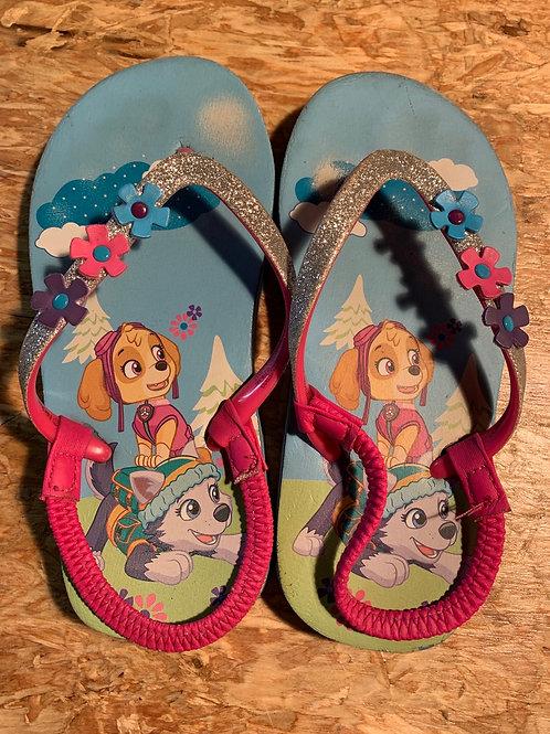 Size 11/12 Kids Paw Patrol Flip Flops