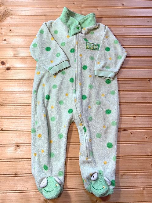 Size 6-9m Frog Fleece Footie PJ