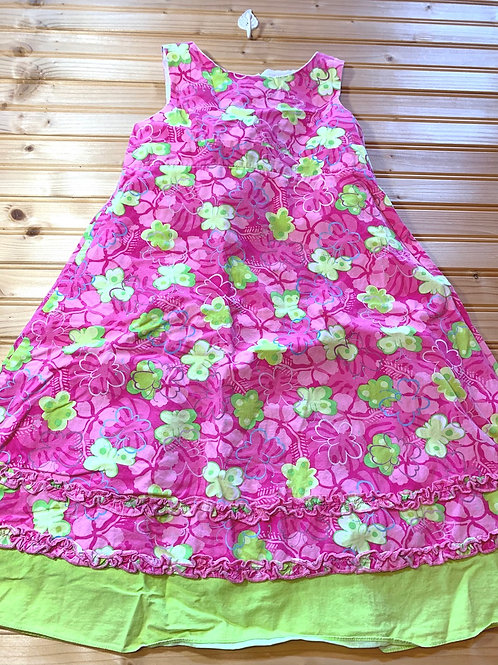 Size 6x Pink and Green Dress, Used