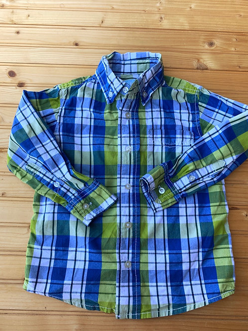 Size 4 Blue and Yellow Plaid Shirt