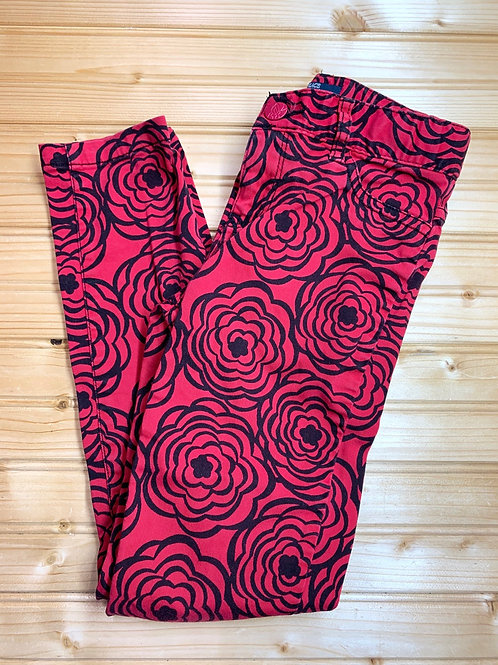 Size 8 CHILDREN'S PLACE Red and Black Jeggings