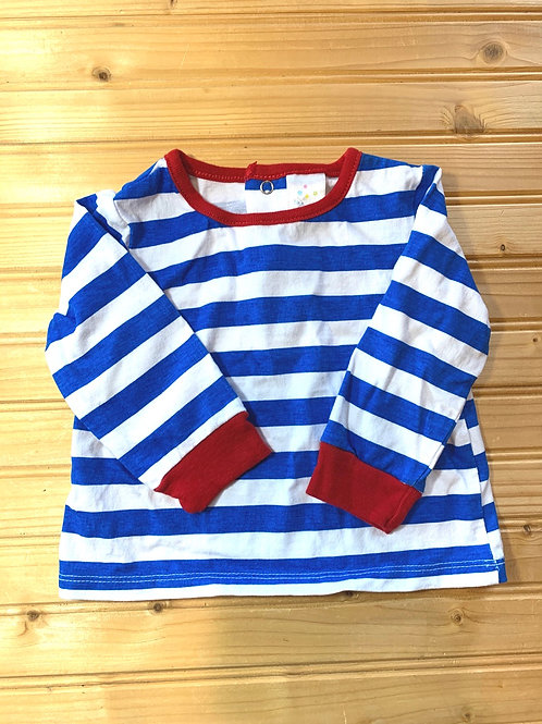 Size 12m Blue and White Shirt