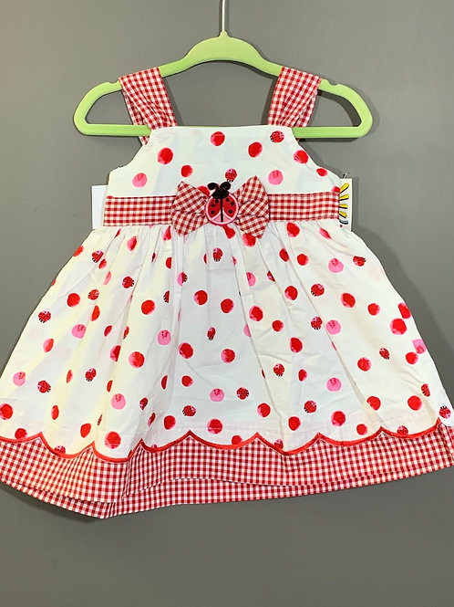 Size 12m NEW HORIZONS Red Ladybug Dress NWT