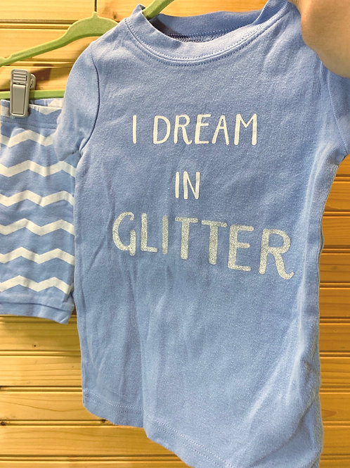 Size 2T Summer PJ Set Dream in Glitter