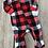 Size 3-6m PANCAKES Buffalo Plaid Fleece PJ