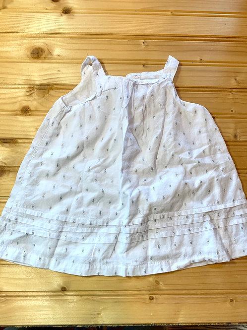 Size 3-6m White Cotton Dress
