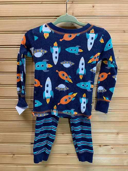 Size 18m CARTER'S Spaceship 2pc Cotton Pajama, Used
