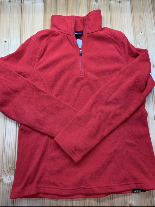 Size 6-8 Women's LANDS' END Red Fleece