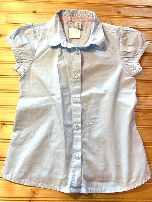 Size 6/7 OLD NAVY Blue Capped Sleeve Shirt, Used