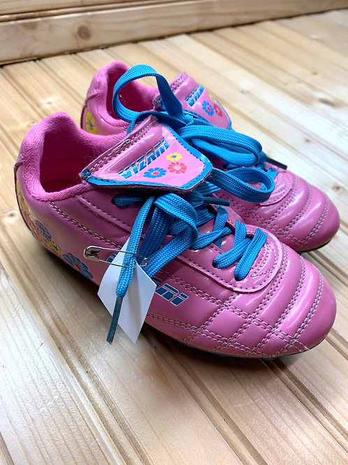Size 10.5 kids Pink Soccer Cleats