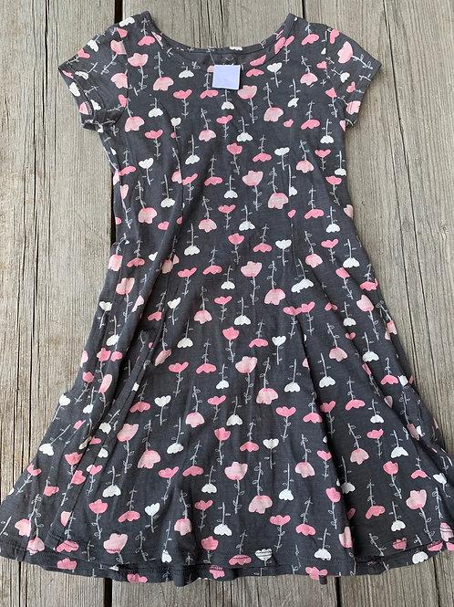 Size 6 Grey Flower Dress