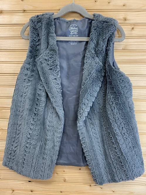 Size 10/12 FADED GLORY Grey Fuzzy Vest, Used