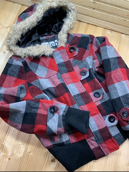 Size S (10/12?) DEB Plaid Coat