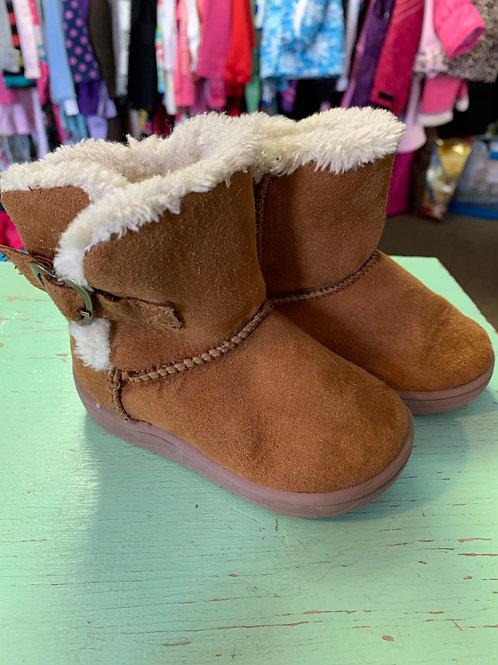 Size 4 Toddler GARANIMALS Tan Suede Boots