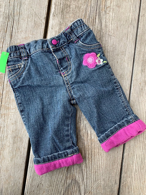 Size 0-3m SMALL WONDERS Lined Jeans