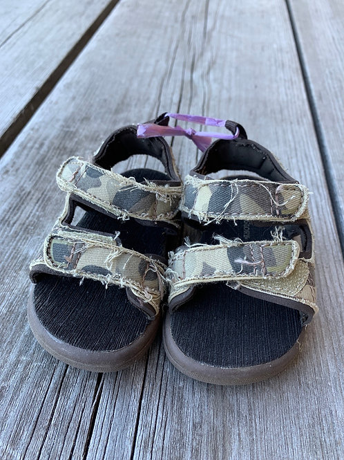 Size 3 Baby Camo Sandals