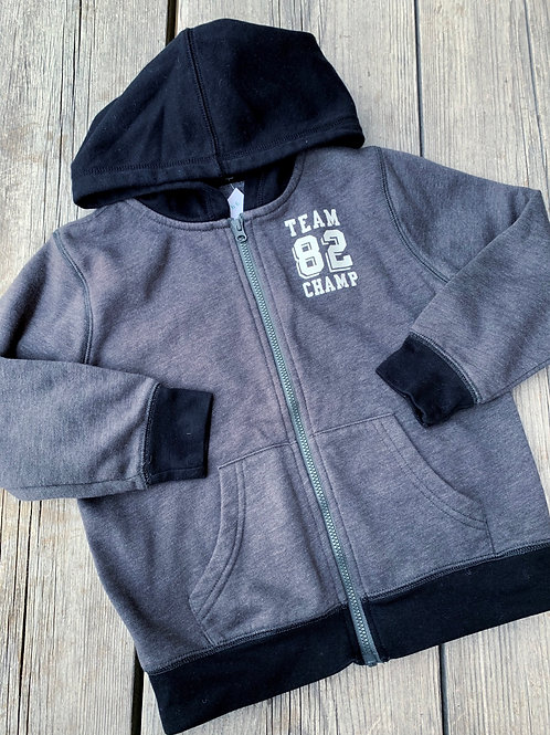 Size 5T OKIEDOKIE Team Champ Grey Hoodie