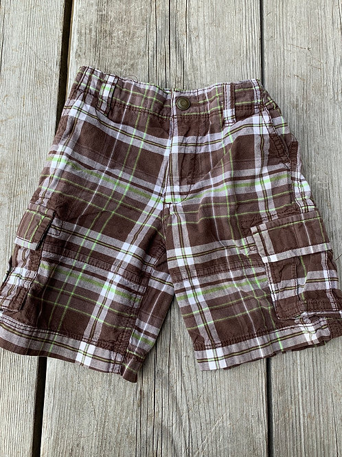 Size 3T Plaid Brown Shorts