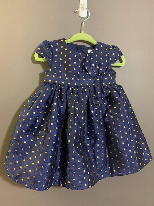 Size 6m CARTER'S Navy and Gold Party Dress