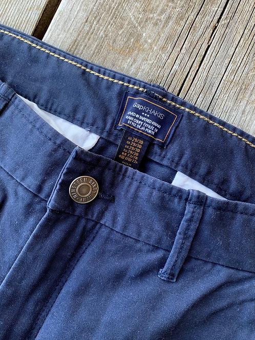 Size 29x30 GAP KHAKIS Navy Tappered Pants