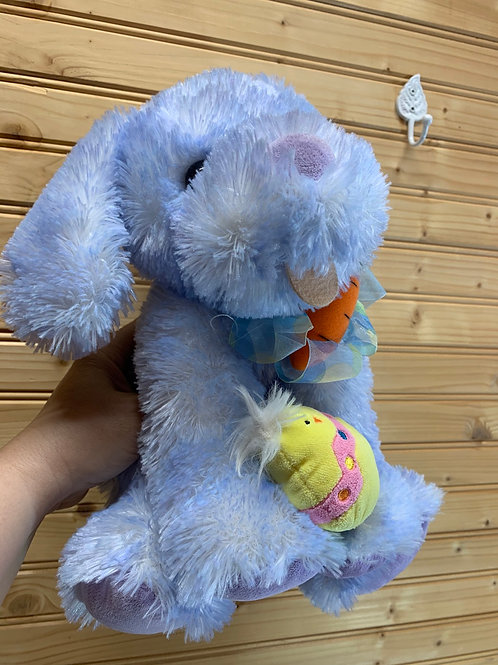 Blue Easter Puppy Stuffed Animal, Used