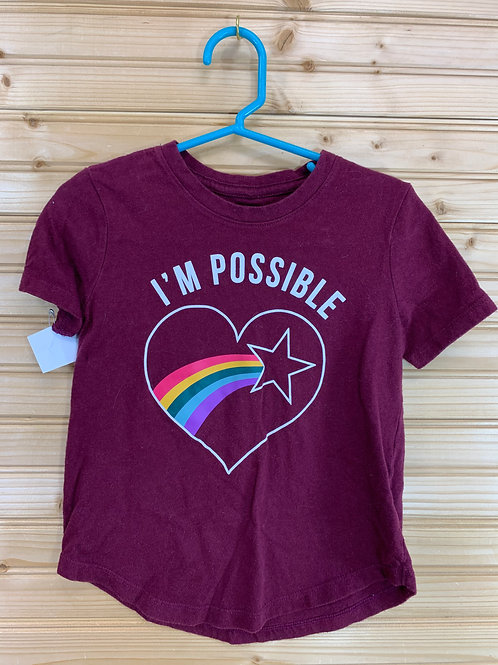 Size 5 OLD NAVY I'm Possible Rainbow Shirt, Used