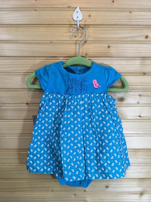 Size 3-6m CHILD OF MINE Blue Chick One Piece Dress