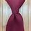 """14"""" Clip On Necktie, Burgundy"""