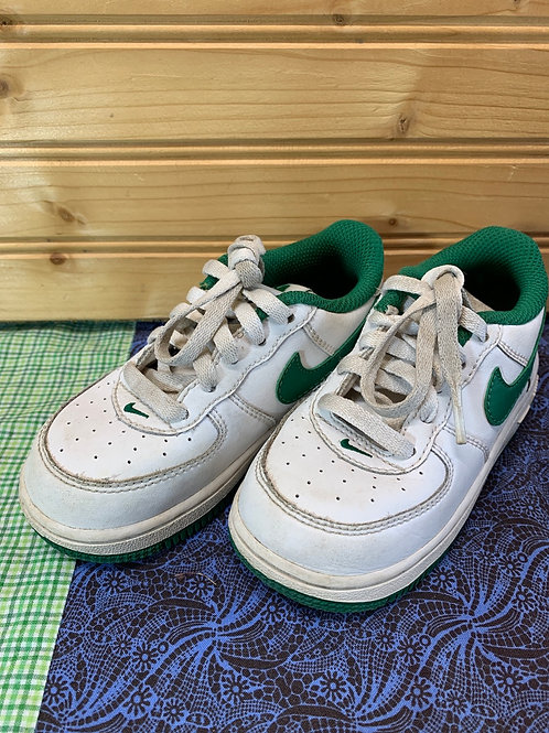 Size 8 Toddler NIKE Green and White Shamrock Sneakers