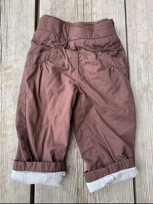 Size 18m GAGOU TAGOU Lined Brown Pants