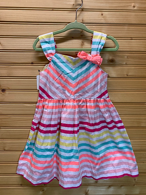 Size 2T Striped Summer Dress, Used