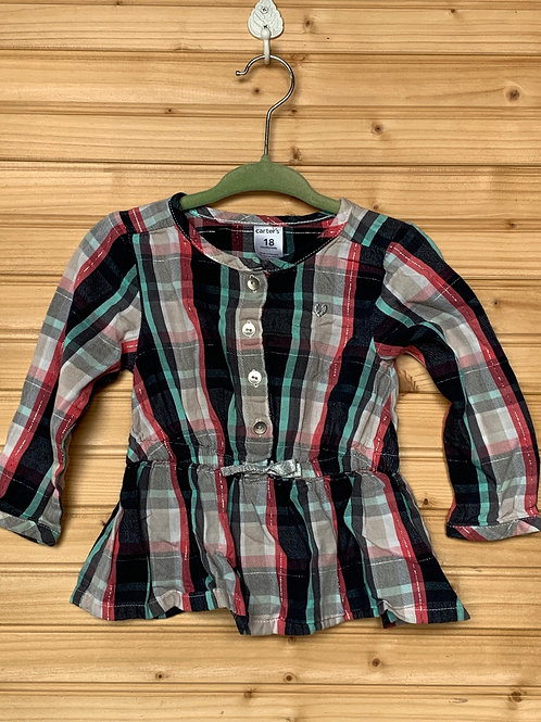 Size 18m CARTER'S Plaid Blouse, Used