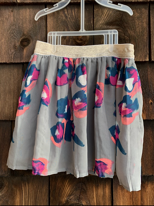 Size 7 SONOMA Floral Skirt