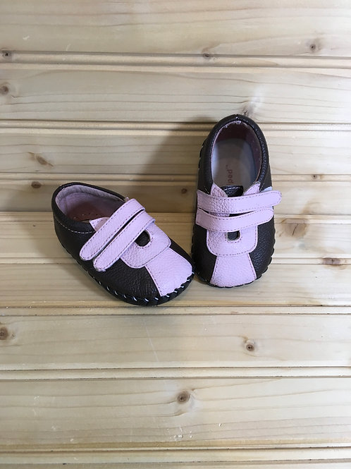 Size 0-3m Pink and Brown Shoes