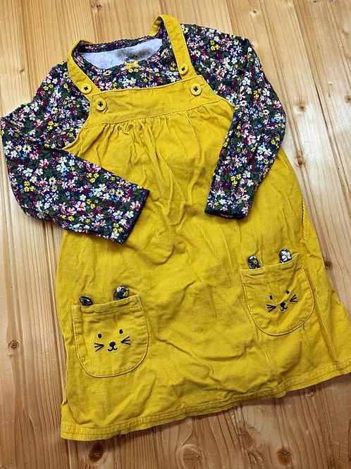 Size 24m CARTER'S 2pc Yellow Kitty Dress
