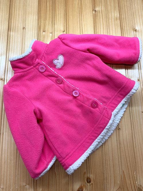 Size 3-6m Pink Fleece Coat