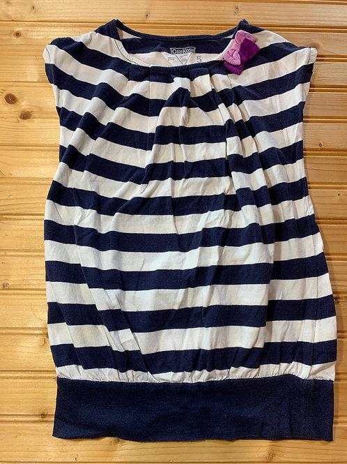 Size 5 OSHKOSH Navy Striped Tunic, Used