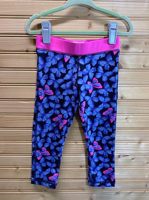 Size 2T OSHKOSH Butterfly Sport Legging, Used