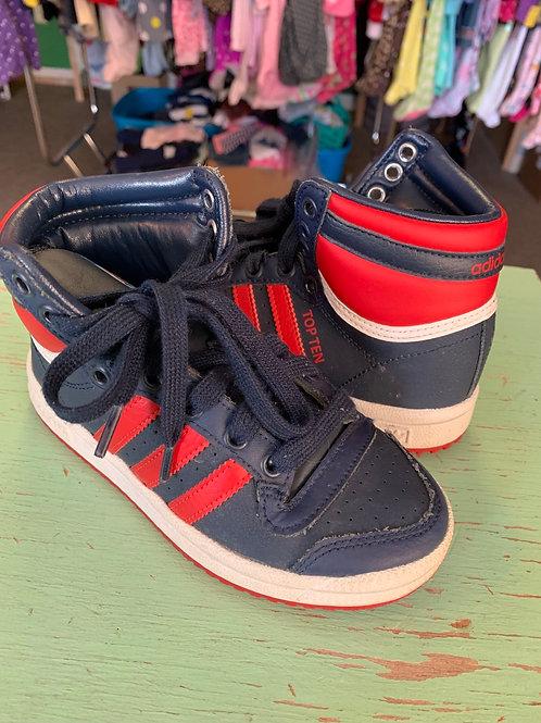 Size 11 Kids ADIDAS Top Ten Navy/Red Sneaker
