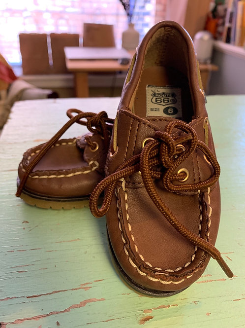 6 Toddler Brown Boat Shoes