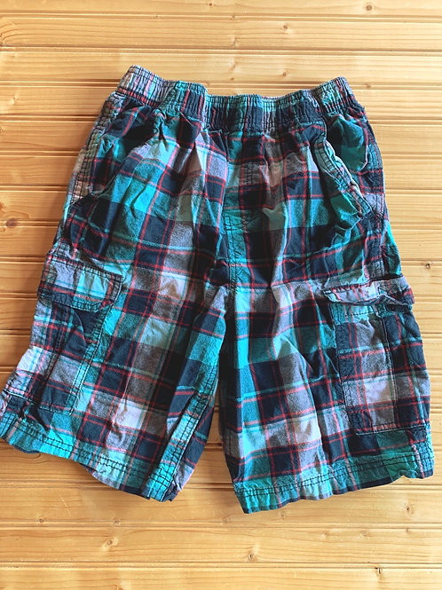 Size 10/12 Navy and Teal Plaid Shorts