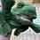RUSS Plush Green Frog Puppet