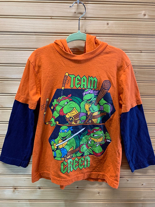 Size 4T NICKELODEON Team Green Shirt