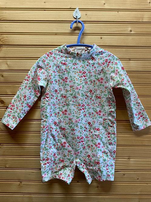 Size 18-24m JOE FRESH Floral Rash Guard Swimsuit, Used