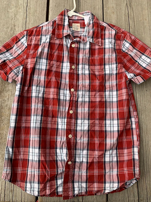 Size 14/16 OLD NAVY Rusty Plaid Shirt
